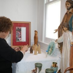 Italian Home Altar installed by Sons of Italy