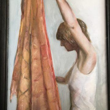 """Alice by Anne Warshaw, Oil on Gessoed Cardboard12.5"""" x 19.5"""""""