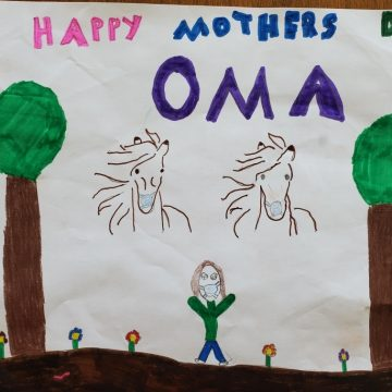 For Oma by Dax Natori Foster & Zane Natori Foster, Acrylic Pen on Paper