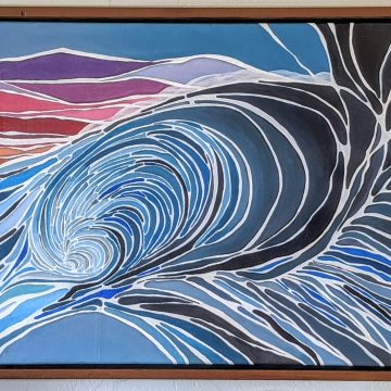 Deconstructed Wave by Deb R. Collins, Acrylic