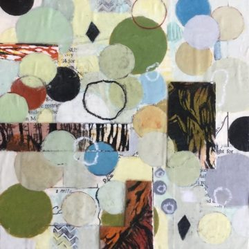 """Into The Woods by Kathryn Stowell, Mixed Media 8"""" x 8"""""""