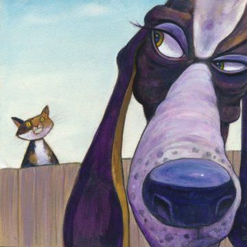 "Social Distancing by John McKinley, Acrylic  6""x 6"""