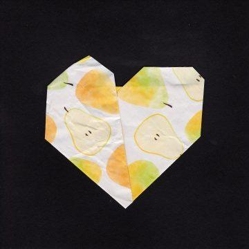 """Broken Heart by Larissa Balsley, Mixed Media: Origami/Artist Tiles 6"""" x 6"""""""