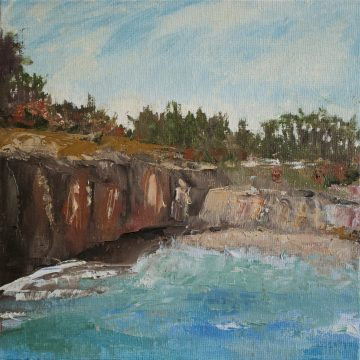 """North Coast Scene  by Sally-Christine Rodgers, Oil on Board, 8"""" x 10"""""""