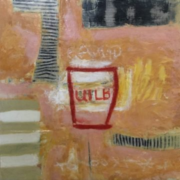 """Under The Radar by Kathryn Stowell, Mixed Media 8"""" x 8"""""""