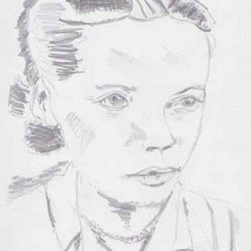 """Mutter: Zarte Träume /Mother: Tender Dreams by Ute Balsley, Pencil 5.5"""" x 8"""""""