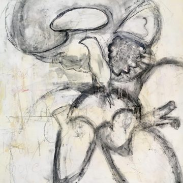 """Fear Less, Live More: Drawing 1 by Jean Sheckler Beebe, Mixed Media on Paper 26"""" x 18"""""""