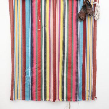 Volver A Verte/To See You Again byArleene Correa Valencia onRepurposed Hammock, Embroidery, Huaraches & Rosary