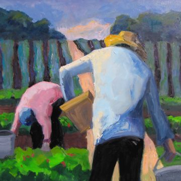 The Long Road by Barbara Lawrence, Oil on Canvas