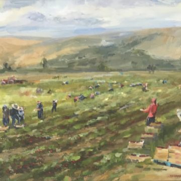The Strawberry Harvest by Bill Kennann, Oil