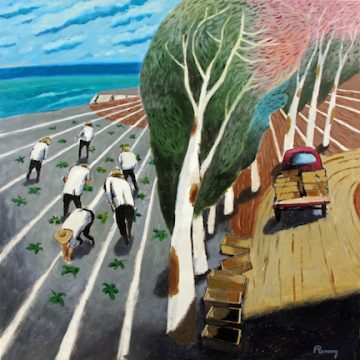 Planting by the Bay byDavid Fleming,Acrylic on Canvas