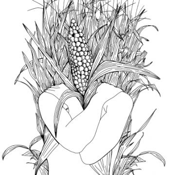 Hombre de Maize by Gabriel Medina, Digital Art