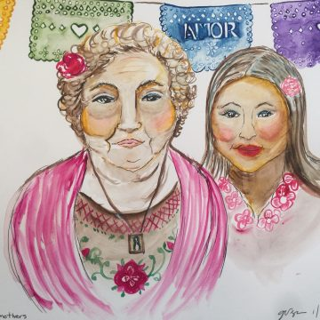 Celebrating Mothers by Graciela Vega, Watercolor on Paper