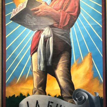 La Fuega by Jay Mercado,Oil on Burlap