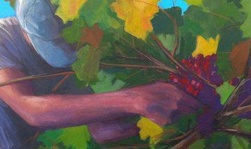 Solo Grape Harvest byJay Mercado,Acrylic on Panel