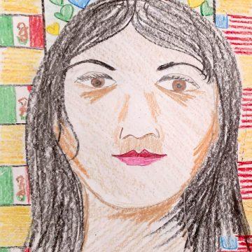 The Dreamer/La Sonadora by Jenny Dowd, Pencil & Crayon