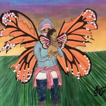 Wings Cut by Jessica Carrasco, Acrylic