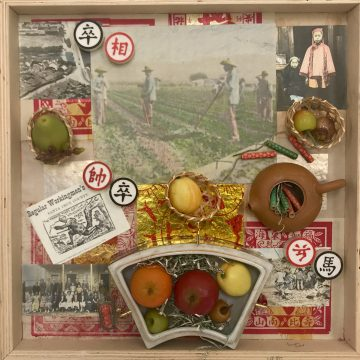 Chinese Agricultural Workers, Watsonville by Lucien Kubo, Mixed Media