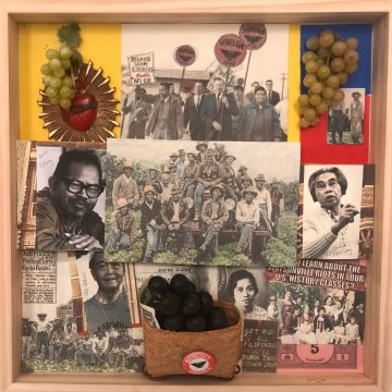 Filipino Agricultural Workers, Watsonville by Lucien Kubo, Mixed Media