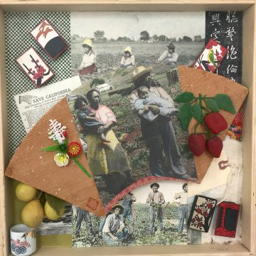 Japanese Agricultural Workers, Watsonville by Lucien Kubo, Mixed Media