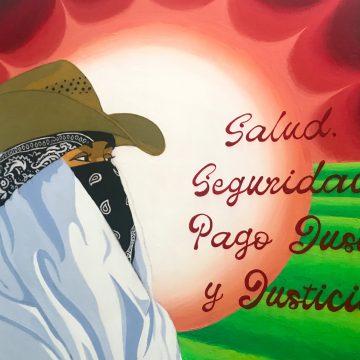 Justicia Para Los Campesinos by Ome Garcia, Acrylic on Canvas