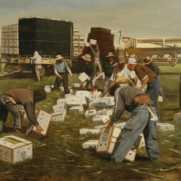 Celery Harvest by Warren Chang, Oil on Canvas