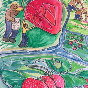 Dignity to Our Brothers & Sisters: Working the Land is Honorable by Graciela Vega, Mixed Media