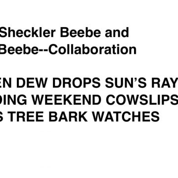 Poem to accompany Green Dew Drops by Jean & Mike Beebe