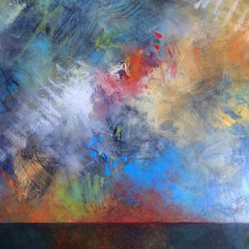 """Sunrise on Hope by Beth Shields, $1200, Oil on Canvas, 40"""" x 20"""""""