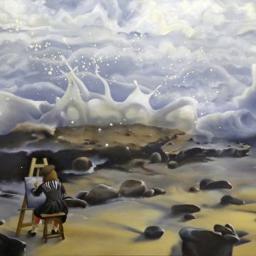 """Art of the Splash by Francine Marshall, $1499, Oil on Canvas, 24"""" x 30"""""""