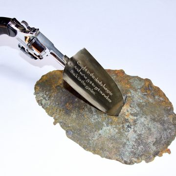 "Back To the Garden by Lynne Todaro, $850, Bronze, Nickel-Silver, Found Object, 10"" x 14"" x 8"""