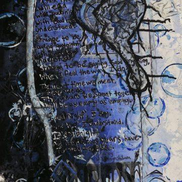 """Midnight Glass by Madeleine Stober. $333, Acrylic, 48"""" x 18"""""""