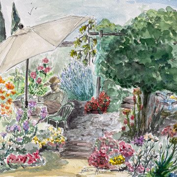 """My Garden, A Never Ending Inspiration by Martine Mahoudeau, $325, 9"""" x 12"""""""