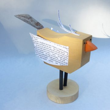 "Dickey Bird by Peter Koronakos, $135, Assemblage, 7"" x 3"" x 10"""