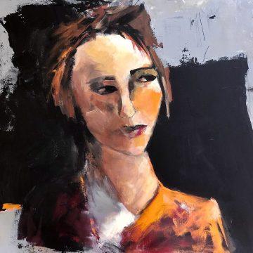 "Eyes on Fire by Ronit Reznichky, $800, Acrylic on Canvas, 24"" x 24"""
