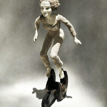 """Going Places by Rose Sellery, $1200, Mixed Media & Found Objects, 20.5"""" x 8.75"""" x 8.5"""""""