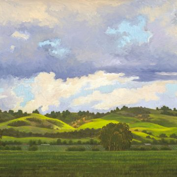 """Spring Showers by Ruth Carroll, $1300, Oil on Linen, 18"""" x 24"""""""