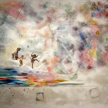 """When We Were... by Sarah Bianco, $2100, Mixed Media on Canvas, 60"""" x 72"""""""