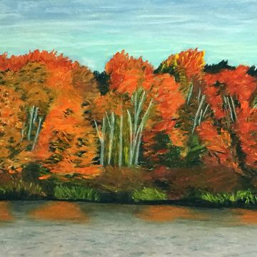 """Autumn Glory by Sylvia Winsby, $150, Pastel, 9"""" x 12"""""""